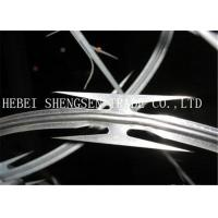 Best High Tensile Galvanized Razor Barbed Wire 0.5mm thickness For Security Fence wholesale