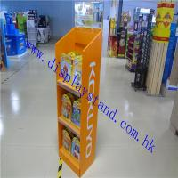 Best 4C Offset POP Cardboard Floor Display Stand for Toys , 3 Tiers Display Rack For Student