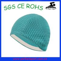 Best new fashion factory price bubble swim cap wholesale