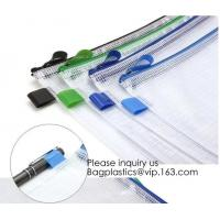 China Office Stationery Plastic Pp File Bag A4 Document Pouch B6 Zipper Wholesale File Folder Bag School Stationery Supplies, on sale