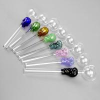 Best Multi Colored Wax Glass Smoking Pipe For Oil 2mm Thickness Eco Friendly wholesale