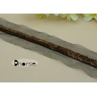 Best Handmade 1CM Brown Gold Beaded Trim By The Yard For Garment Decoration wholesale