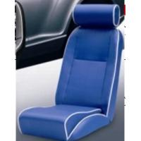 Best Universal Blue PVC Sport Racing Seats With Deep Thing Bolsters / Bucket Car Seat wholesale