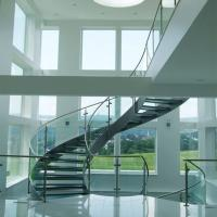 Best Good Price Commercial / Residential Stainless Steel Prefabricated Curved Stairs wholesale