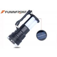 Best Solar Power Panel Rechargeable Camping LED Lights Flashlight With Folding Handle wholesale