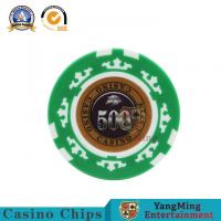 Cheap 45mm Casino Diamond Poker Chips Sets Texas Hold 'Em Poker 13.5/G Clay Composite With Inner Metal for sale