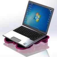 Best 4 fan laptop cooler pad / Rubber Cooling Stand for 13 inch Notebook wholesale