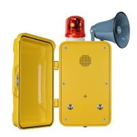 Best PoE Powered Yellow Broadcast Telephone / Impact Resistant Tunnel Telephone wholesale