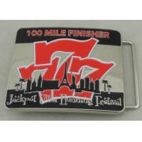 Best Jackpot Ultra Running Festival Custom Made Belt Buckles 100 Miles Finisher With Soft Enamel wholesale