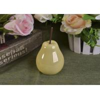 Best Pearl Glazed Ceramic Pear Dining Kitchen Room Table Centerpiece Fruit Decoration wholesale