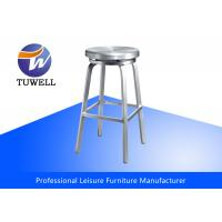 Details Of Round Emeco Aluminum Backless Navy Counter