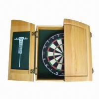Buy cheap Bristle Dart Board with Solid wood Cabinet, OEM Orders are Welcome from wholesalers