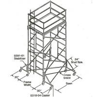 Quality Adjustable Heavy - Duty / Light - Duty Shoring Scaffolding Stackable Fast Lock 4' * 6' wholesale