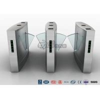 Best Fingerprint Reader Turnstile Barrier Gate , Acrylic Flap Barrier Turnstile wholesale