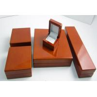 Cheap Christmas Matte Jewelry Wooden Box Offset Printing For Chain / Bracelet Packaging for sale