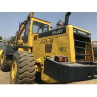 Best 260.2HP Komatsu WA470 Second Hand Wheel Loaders , Used Compact Track Loaders wholesale