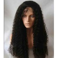 """Best Black Long Natural Wave 18"""" remy human hair full lace wigs Tangle Free wholesale"""