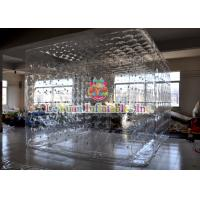 Transparent Inflatable Cube Tent For Event , Outdoor Closed Air Inflatable Tent