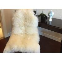 Cheap Home Decorative White Real Sheepskin Rug Long Merino Wool 60 X 90cm Natural for sale