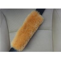 Best Washable Padded Seat Belt Cover , Breathable Brown Seat Belt Pads For Adults  wholesale