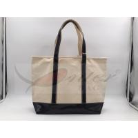 Best Beige Canvas Washable Tote Bag , Personalized Canvas Tote Bags 32*29.5*13.5 Cm wholesale