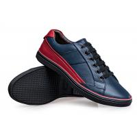 Best Fall Season Mens Leather Skate Shoes , Black Skateboard Shoes EU 39-46 Size wholesale