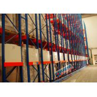 4 PU Wheel Type High Density Mobile Storage Pallet Racks 24 Tons Per Unit Rail Guided
