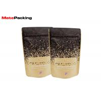 Flat Bottom Kraft Paper Food Bags Resealable Stand Up Aluminum Foil Lined Coated