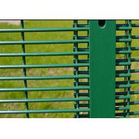 Best Green 358 Security Mesh Fencing 80 X 80 MM Post 2.1 X 2.5 Meter For Road Security wholesale