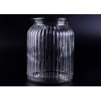 Best Clear Tall Soy Glass Bottle Candle Holders / 1000ml Glass Candlestick Holders wholesale