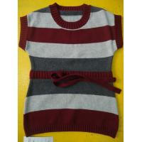 Best 100 Cotton Knitted Kids Pullover Sweater , Crew Neck Girls Winter Sweater wholesale