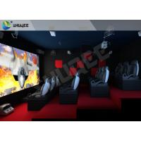 Best Red Motion Chairs 5D Theater System , 5D Cinema Simulator For Shopping Mall wholesale