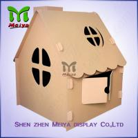 Cheap Corrugated Paper Artwork Cardboard Kids Toys foldable Craft House for sale