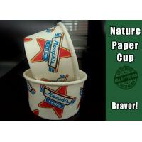 China PE Coated Paper Custom Frozen Yogurt Cups , Paper Ice Cream Containers With Lids on sale