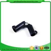 Best Sturdy Plastic Garden Stake Connectors Black Color Adjustable Angle 0 - 170 Degrees wholesale