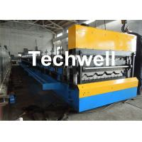 Best Galvanized Steel Double Layer Forming Machine For Roof Wall Cladding With HRC50 - 60 Heat Treatment wholesale