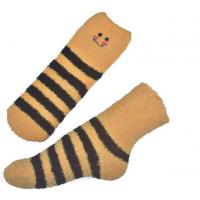 Best Yellow Smile pattern mens aloe socks Polyester plush therapy 19x13x8.5 cm wholesale