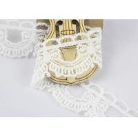 Best Guipure Cotton Lace Ribbon Water Soluble Antique Style White Color 2.6cm Width wholesale