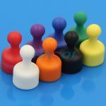 Best Neodymium colorful office plastic coated magnet push pin wholesale
