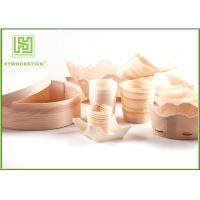 Best Pine / Poplar Wooden Sushi Boat / Cups For Restaurant Different Shape Size wholesale