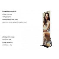 USB 4G Wifi Control Indoor LED Poster Portable Advertising LED Poster Mirror Display 0