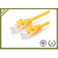Best 24AWG Cat6e Fiber Patch Cord , Internet Patch Cable Pure Copper Multi Stranding Wire wholesale