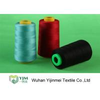 Cheap Dyed 100 Spun Polyester Sewing Thread With Plastic / Paper Cone Wear Comfortable for sale