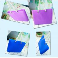 Best Silicone beachs bag with cotton rope / silicone shopping beach bags /beach shoulder bags wholesale