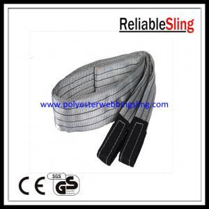 SF 6 4T Eye - Eye Flat Webbing Sling , Polyester Lifting Sling / Belt EN 1492-1