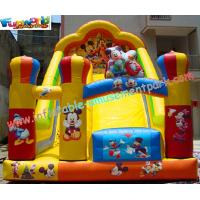 Amusement Mickey Commercial Inflatable Slide