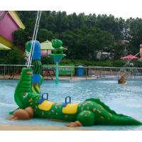 Buy cheap Exciting Water Play Fiberglass Crocodile Spray Water Equipment For Kids Play In Splash Park from wholesalers