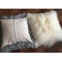 "Best 16"" mongolian sheepskin pillow Sheepskin Wool Fur Leather Pillowcase Mongolian Lambswool Pillow wholesale"