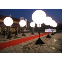 Best White Color Light Up Balloons , Inflatable Lighting Decoration 1.5m Diameter wholesale