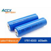 Cheap shaver battery lithium ifr14500 3.2v 600mAh AA rechargeable battery for sale